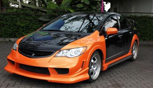 Modifikasi Mobil Sedan Honda Civic