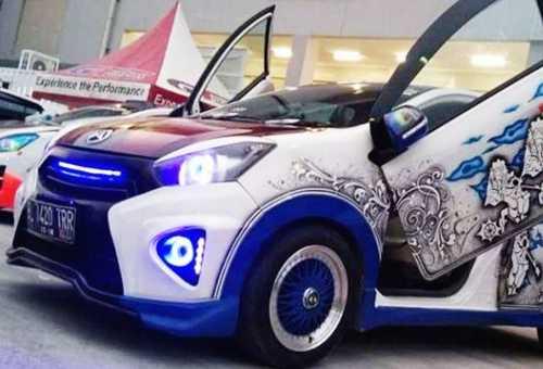 Modifikasi Mobil Ayla 02